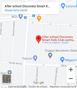 Locatie Discovery Smart Kids Club Timisoara
