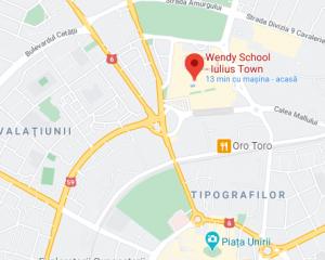 Locatie Wendy School Iulius Town Timișoara
