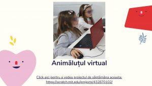 Curs programare copii cu Iotesa Kids la Exploratorii Cunoașterii Timișoara - Animalut virtual2