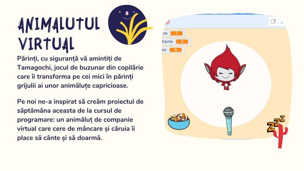Curs programare copii cu Iotesa Kids la Exploratorii Cunoașterii Timișoara - Animalut virtual3