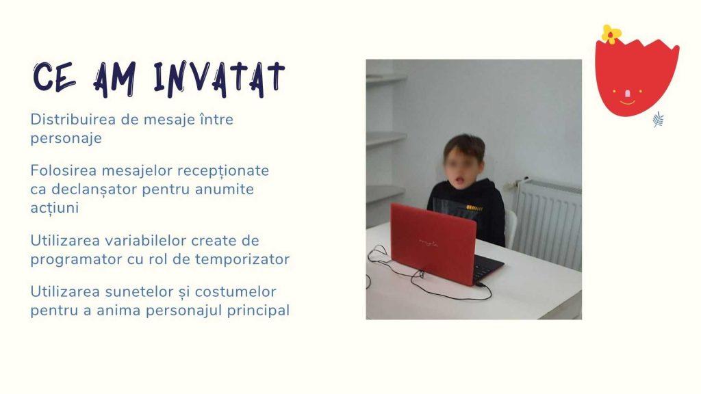 Curs programare copii cu Iotesa Kids la Exploratorii Cunoașterii Timișoara - Animalut virtual4