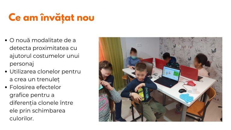 Curs programare copii cu Iotesa Kids la Edes After School Timișoara - Trenulețul multicolor8